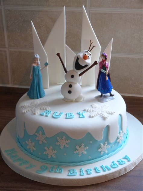 frozen themed cake   hand  olaf frozen party ideas   frozen theme cake