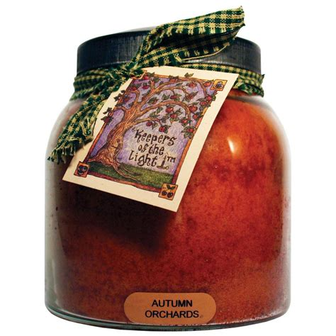 keepers of the light candles keepers of the light autumn orchards glass candle jp65