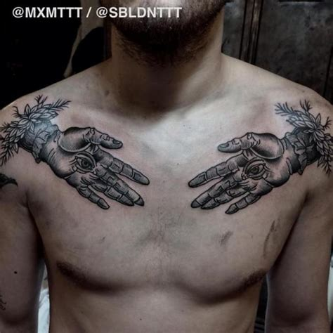 eye tattoo on chest meaning chest hand eyes graphic tattoo by mxm best tattoo ideas