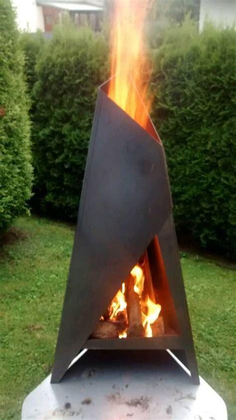 feuerstellen aus stahl der terrassenofen ist aus 3 mm cortenstahl hergestellt