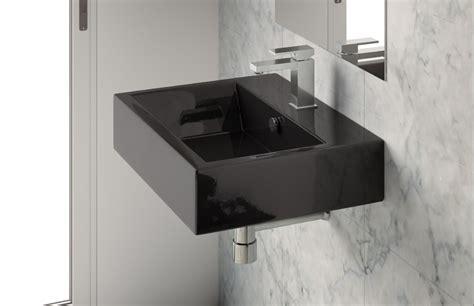 lavabo nero bagno lavabo 65 da appoggio sospeso nero loft
