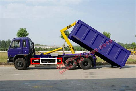 Arm Roll Hook Lift Truck 10 wheels dongfeng hook lift truck 6 4 arm roll container