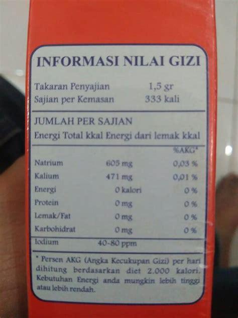 Garam Nutrisalin 200gr jual garam diet hipertensi chnews