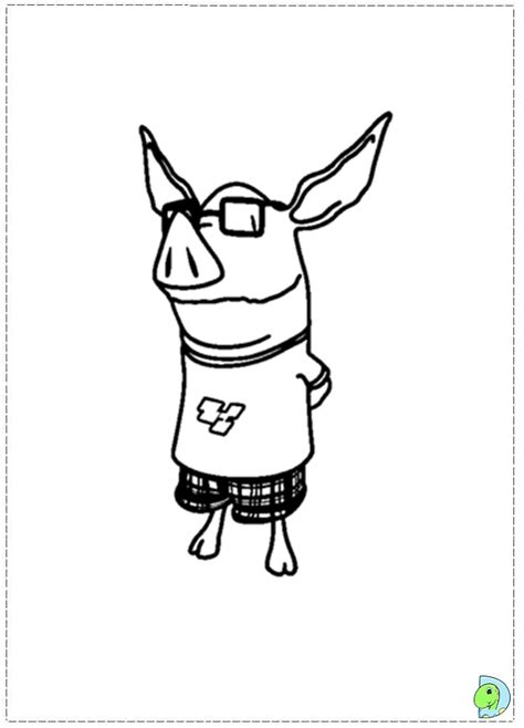 free coloring pages of olivia olivia the pig