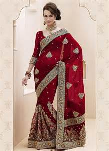 Maroon wedding bridal saree breeze into any occasion like wedding