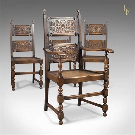 Ebay Antique Dining Chairs Scottish Set Of 4 Antique Dining Chairs Oak C 1900 Ebay