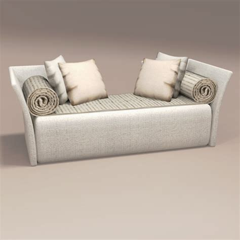 two sided chaise lounge spiral chaise double arm 3d model formfonts 3d models