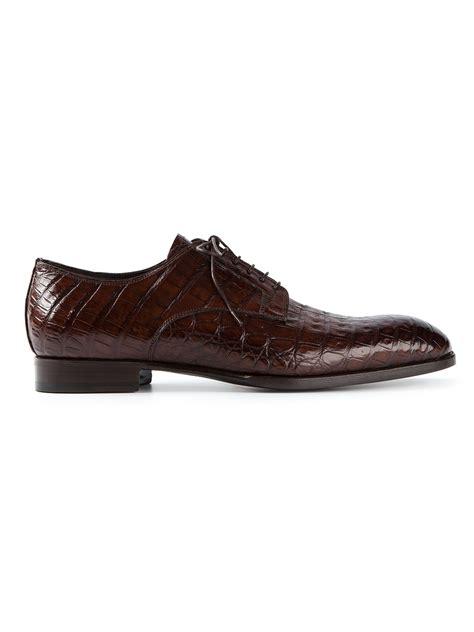 giorgio armani piped oxford shoe in black for lyst