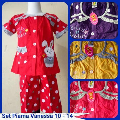 Pusat Grosir Baju Geisha Set Woolpeach Katun sentra grosir setelan piyama anak perempuan size 10 14 murah 28ribuan baju3500