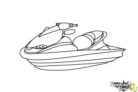 how to draw a rescue boat how to draw a jet ski drawingnow