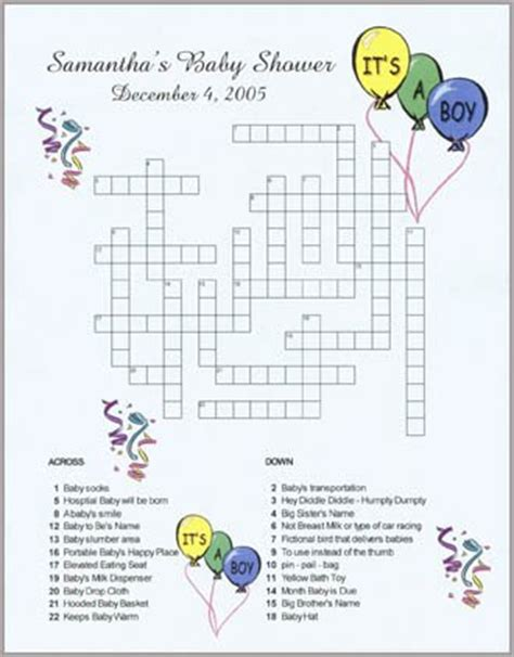 wedding announcement in crossword personalized custom baby shower announcement