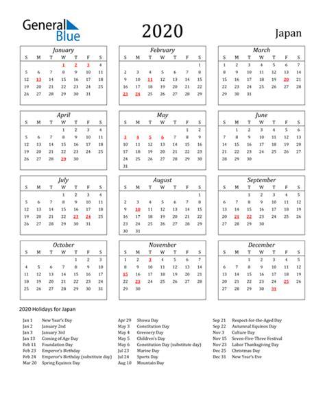 calendar japan  holidays