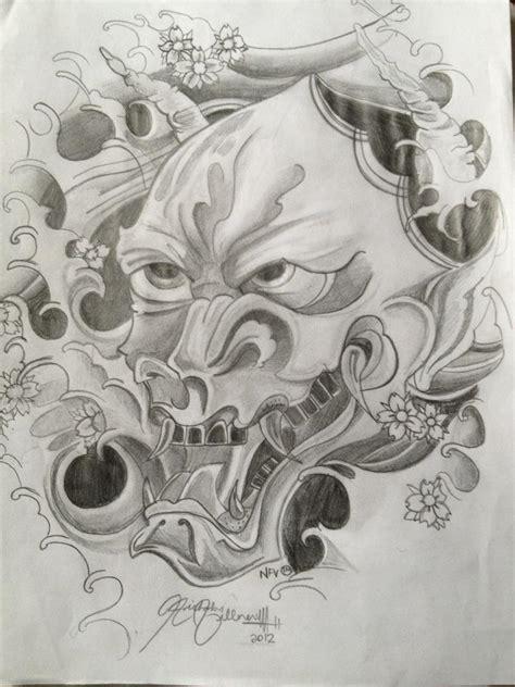 hannya mask tattoo drawing hannya mask by tattooartist12 on deviantart