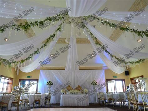 roof decorations 2015 pure white wedding ceiling draper canopy drapery for