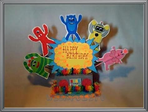 yo gabba gabba centerpieces 17 best images about wisapolito s centerpieces on