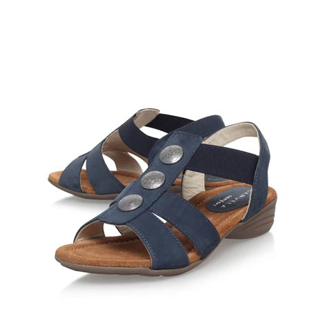are carvela shoes comfortable carvela kurt geiger scatter low heel sandals in blue lyst