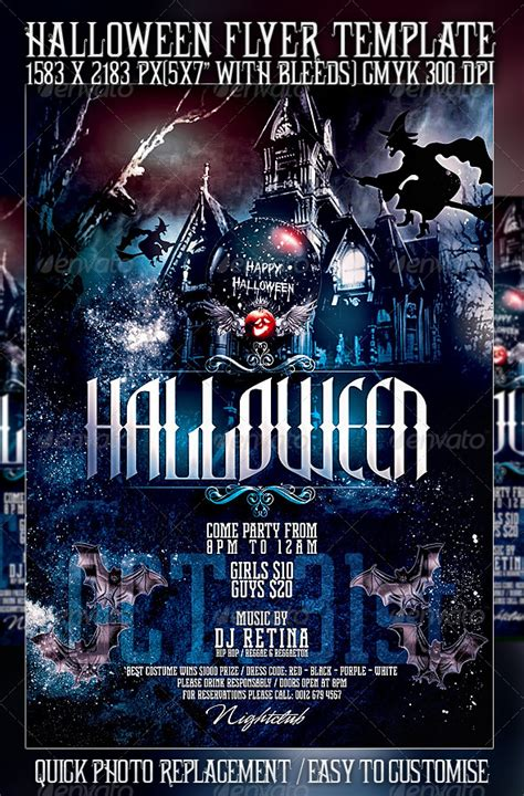 10 scary halloween flyer templates best designers