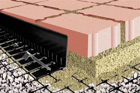 Patio Pavers Edge Restraints High Edge Restraint For Permeable Paver And Aggregate