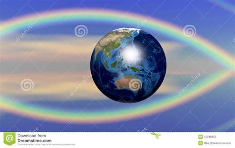 planet earth  christian fish symbol stock illustration
