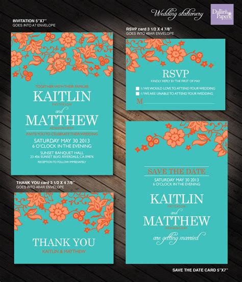 Orange Wedding Invitations by Turquoise And Orange Wedding Invitations Www Imgkid