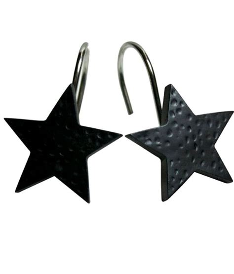Black Star Shower Curtain Hooks Buy Black Star Shower
