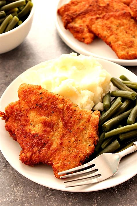 best pork schnitzel recipe crunchy sweet easy recipes for busy parents