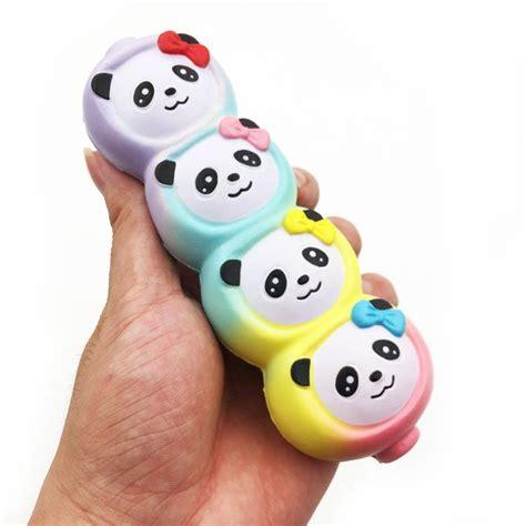 Squishy Rainbow Panda Dango squishyfun kawaii squishies panda dango kawaii squishy store