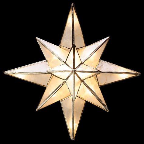 ge clear capiz bethlehem star tree topper hd