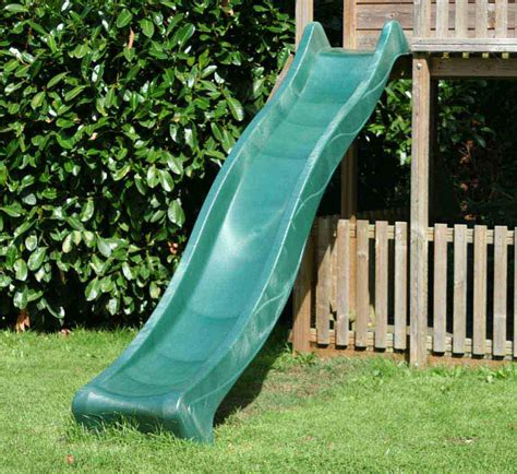 3 metre green childrens slide 3m garden slide