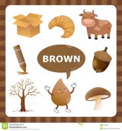 brown color stock vector image 55186577