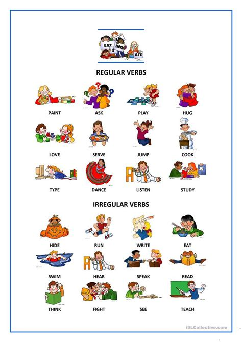 regular irregular verbs worksheet free esl printable worksheets made by teachers