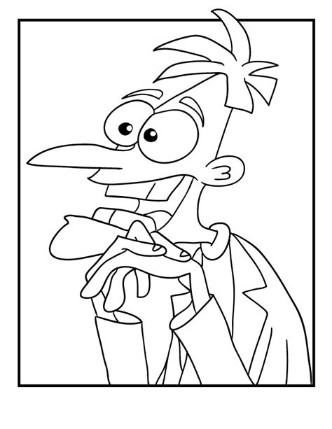 phineas and ferb coloring pages free printable coloring