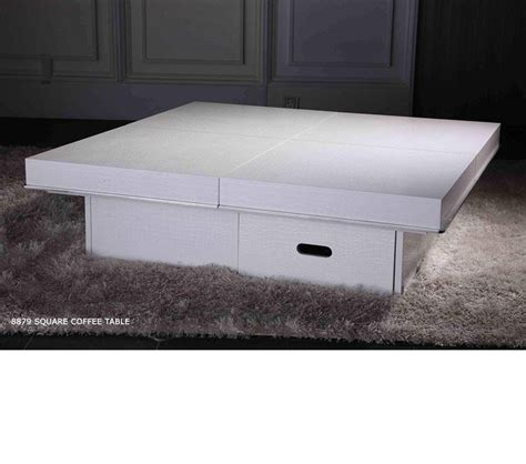 dreamfurniture modern crocodile white coffee table 8879a