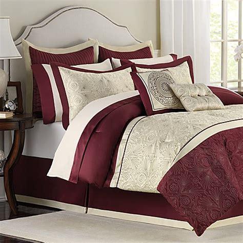 burgundy and cream bedroom trevi 12 piece bedding superset bed bath beyond