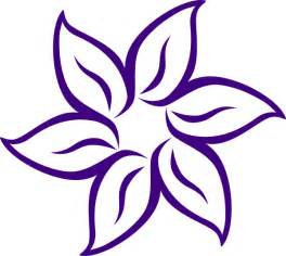 purple flower outline clip art at clker com vector clip