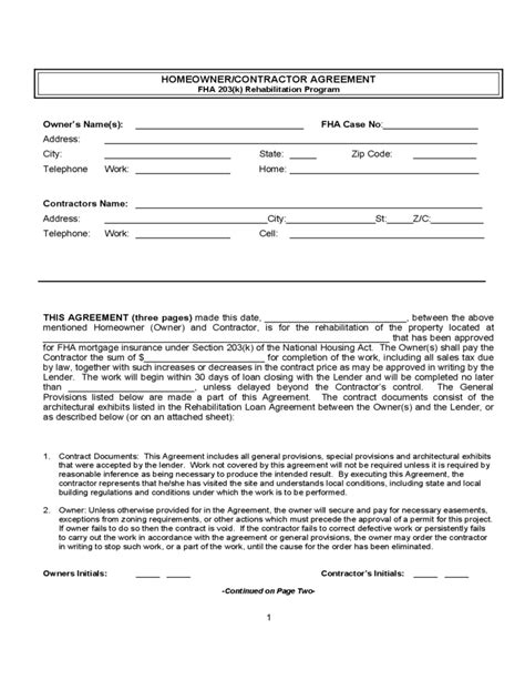 agreement between owner and contractor template 28 agreement between owner and contractor template