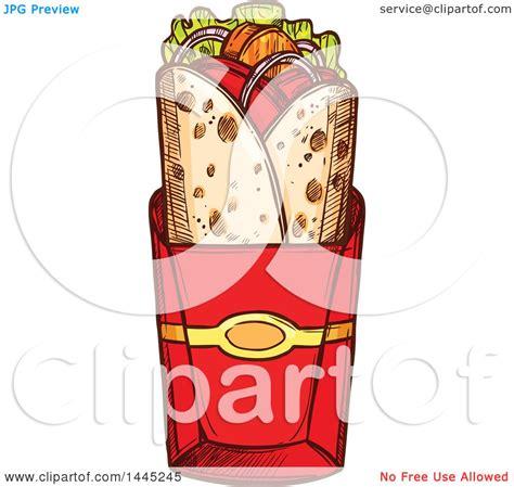 kebab clipart clipart of a sketched doner kebab or gyro royalty free