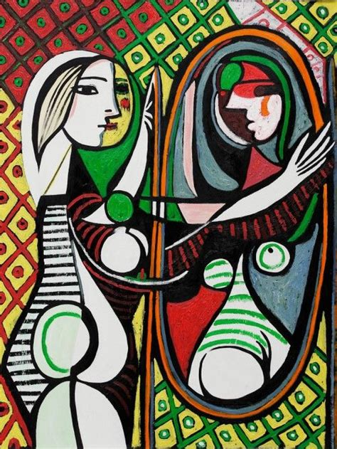 picasso paintings in mirror picasso before a mirror