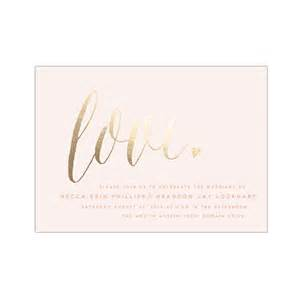 pink invitation with gold foil writing wedding invites stationery photos brides