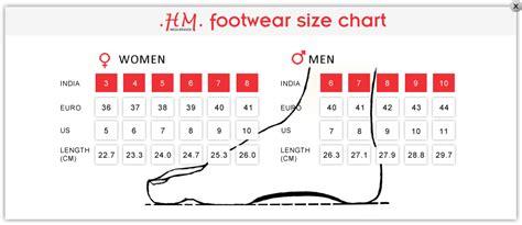 h m shoes size chart h m footwear size chart style guru fashion glitz