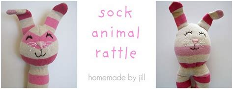 diy sock rattle sock animal rattle tutorial with guest from