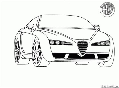 coloring pages crashed cars coloriage alfa romeo italie