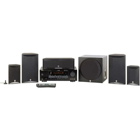 yamaha yht 580bl 5 1 channel home theater system yht 580bl b h