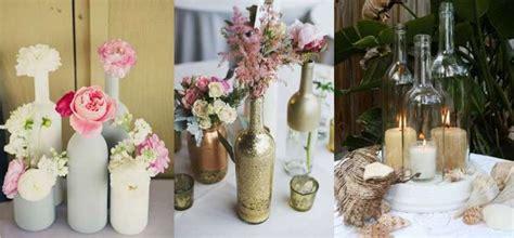 como decorar para bodas de rubi centros de mesa para bodas con botellas ideas originales