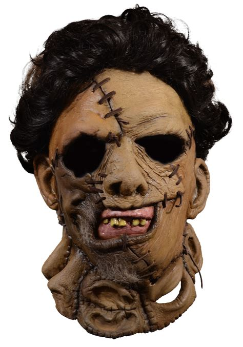 deluxe leather face mask texas chainsaw massacre
