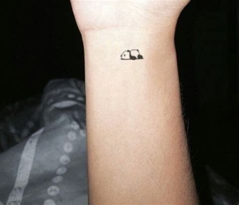 panda tattoo on finger 24 small panda bear tattoo ideas for girls styleoholic