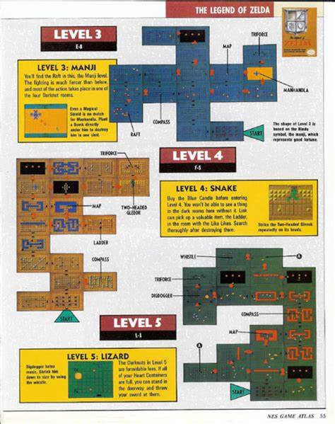 legend of zelda nes map and walkthrough nes game atlas