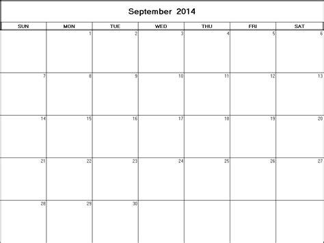 printable calendar 2014 september september 2014 printable blank calendar