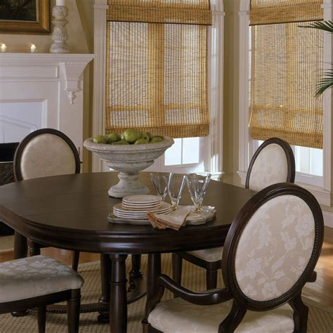dining room blinds roman shade traditional dining room off white rustic