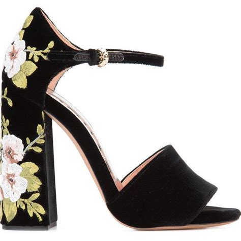 pattern heels polyvore 17 best ideas about chunky heel sandals on pinterest